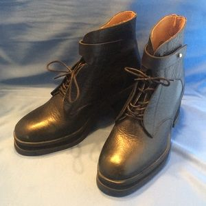 Purified Black Leather Boots